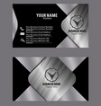 silver black effect visiting card business card vector image vector image