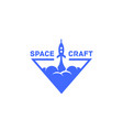 spacecraft logo vector image