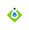 square abstract water drop logo vector image vector image