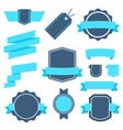 Stickers and Badges Set 4 Flat Style vector image