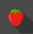 strawberry cartonn flat icon dark background vector image vector image
