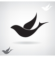Stylized black silhouette of a flying bird vector image vector image