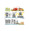 sunflower oil production process stages vector image vector image