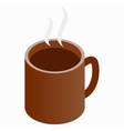 Tea and coffee cup icon isometric 3d style vector image vector image