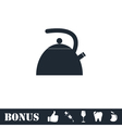 Teapot kettle icon flat vector image vector image
