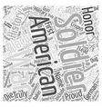 The Proud Black American Soldier Word Cloud vector image vector image
