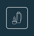 thermos icon line symbol premium quality isolated vector image vector image