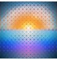 triangular background of dawn vector image