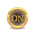 turn onbutton vector image vector image
