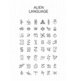 unknown alphabet alien hieroglyphics symbols vector image