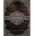 vintage card design vector image