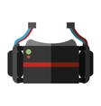 virtual reality glasses wearable device shadow vector image vector image