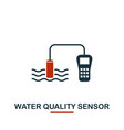 water quality sensor icon from sensors icons vector image vector image
