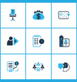 work icons colored set with investor business vector image