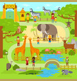 zoo flat animals flat vector image vector image