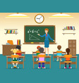 kids sitting in classroom vector image