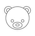 teddy bear head cute animal toy vector image