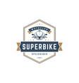 sport motorcycle logo template design vector image