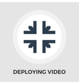Deploying video flat icon vector image