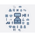 Flat medical icons set Health care elements vector image