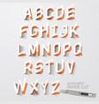 alphabet paper cut designs vector image