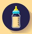 baby milk bottle icon baby bottle flat vector image