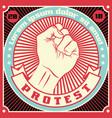 raised protest human fist vector image