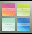 Abstract polygonal background set vector image