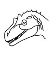allosaurus icon doodle hand drawn or black vector image vector image