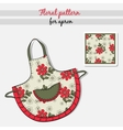 Apron Red Flowers vector image vector image