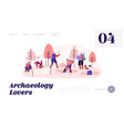 archeologists paleontology scientists working vector image vector image