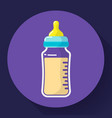 baby milk bottle icon baby bottle flat vector image