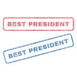 best president textile stamps vector image vector image
