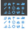 big set nautical icons for vacation and travel vector image vector image