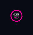 black friday sale banner with bright round vector image