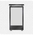 blank lightbox mockup realistic style vector image vector image