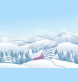 blue mountains winter snowy landscape with snow vector image