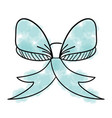 bow ribbon decorative icon vector image vector image