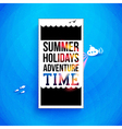 Bright summer holidays poster Typography design vector image vector image