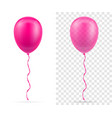 celebratory pink transparent balloons pumped vector image vector image