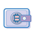 color wallet icon with bitcoin currency sign vector image vector image