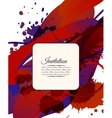 Colorful decorative invitation card with free vector image vector image
