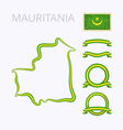 Colors of Mauritania vector image vector image
