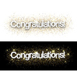 Congratulations paper banners vector image vector image