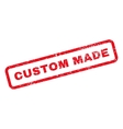 Custom Made Text Rubber Stamp vector image