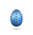 easter egg 3d icon blue gold egg isolated white vector image vector image