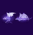 fairy tale dragon ghosts spirits magic monster vector image