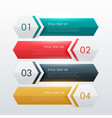four steps modern infographic design template vector image