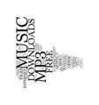 free mp music downloads text background word vector image vector image