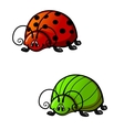Funny beetles vector image
